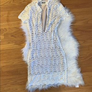 Stone Cold Fox White Lace Dress
